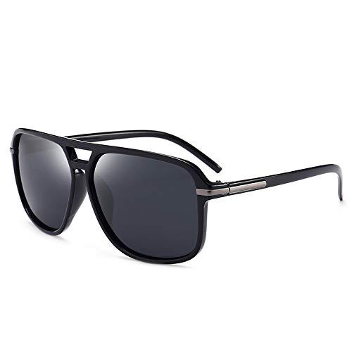 Fahrspiegel polarisierte Sonnenbrille Herren klassische Retro-Sonnenbrille leuchtend schwarz