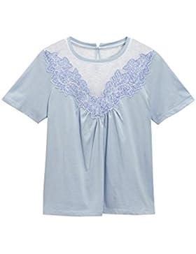 next Mujer Camiseta Bordado Flores Regular Top Ropa