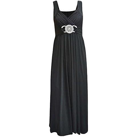 Nuovo da donna Le misure Plus con fibbia Waisted con estremità a sfera da sera lungo Maxi cartamodello per vestiti 16-26