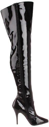 Pleaser SEDUCE-3010, Bottes hautes classiques non doublées femme Noir (Blk Pat)