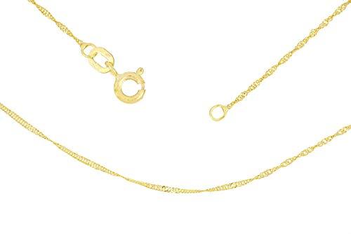 BoB C. Singapurkette 2-fach diamantiert 375/- Gold, 9 Karat