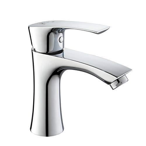 Homelody Armatur Bad Chrom Wasserhahn Einhebel Mischbatterie Waschtisch Einhebelmischer