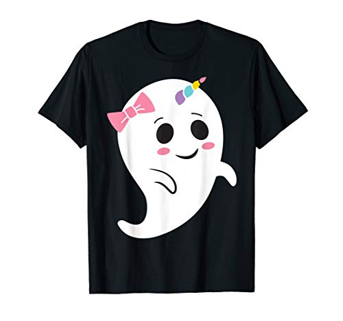 Girl Kostüm Cute - Einhorn Halloween Kostüm Girls Funny Cute Ghost Boonicorn T-Shirt