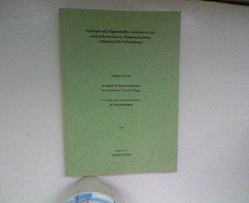 Synthese und Eigenschaften monomerer und axial polymerisierter Phthalocyaninato ruthenium(II)-Verbindungen. Dissertation.