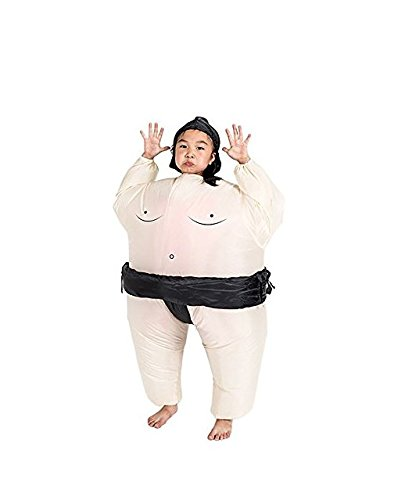 Aufblasbare Sumo Wrestling Kostüm für Kinder Wrestler Anzug Boys Fancy Dress (Wrestling Sumo Kostüm)