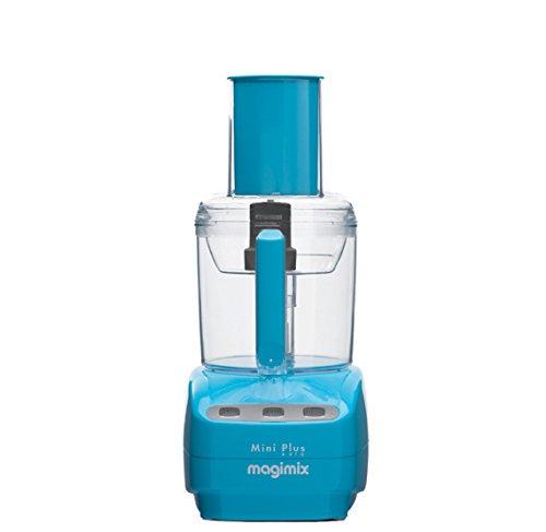 Magimix Mini Plus 400W 1.7L Azul - Robot de cocina (1,7 L, Azul, Botones, 1 m, Francia, Acero inoxidable)