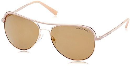 MICHAEL KORS Unisex-Erwachsene Sonnenbrille Vivianna I, Schwarz (Rose Gold / Taupe 11072t), 58 (Michael Kors Sonnenbrille Pink)