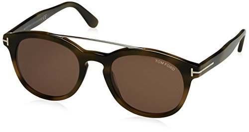 Tom Ford Sonnenbrille FT0515 SUNGLASS PANT DARK GREEN BROWN HAVANA WITH BROWN, 53