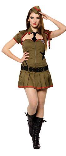 Bristol Novelty AC424 Sexy Soldat Kostüm, Mehrfarbig, UK Size ()