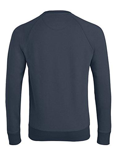 Herren Sweatshirt aus Bio-Baumwolle Mix mit 85% Baumwolle und 15% Polyester, Herren Bio Pullover, Pullover Bio, Herren Bio Sweatshirt,Sweatshirt Baumwolle (Bio) India Ink Grey
