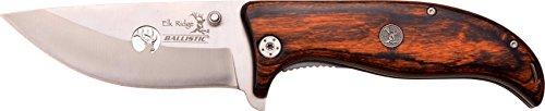 Elk Ridge Taschenmesser Hunter Brown Holzgriff mit Medaillon , ER-A156BW