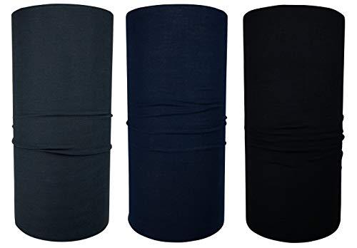 Hilltop Multifunktionstuch Schlauchtuch Halstuch Herren Schlauchschal Damen Bandana mit vern/ähten Saumkanten