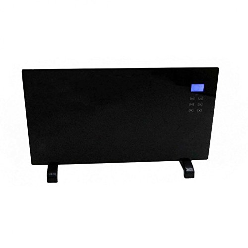 Oypla 2000W Black Glass Free Standing/Wall Mounted Electric Panel Convector Heater