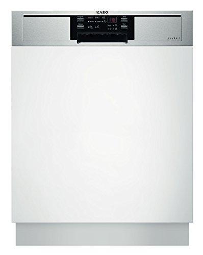 AEG FAVORIT F26302IM0 Geschirrspüler (teilintegriert) / optimal integrierbar / Energieklasse A++ (262 kWh pro Jahr) / teilintegrierter Einbaugeschirrspüler / Geschirrspülmaschine weiß / Edelstahl