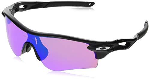 Oakley Men's Radarlock Path (a) Non-Polarized Iridium Wrap Sunglasses, Matte Black, 38 mm