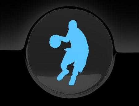 Basketball SPIELER Aufkleber Fuel Cap, Arctic Blue (Spieler Cap)