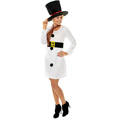 Ladies Low Cost Miss Snowman Costume - Best Value!