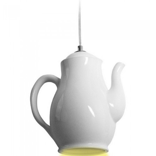 Deckenlampe Lampe KAFFEE KANNE weiß Porzellan