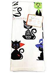 la cuisine Festive Schwarz Katzen in Spooky Halloween Kostüme Set von Zwei Happy Halloween Themed Dekorative Küche Handtücher (28 Halloween Katze Kostüme)