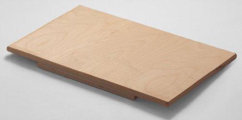 MAAJ® BACKBRETT / PASTABRETT MAXI 96x63x1,2cm AUS BIRKENHOLZ MIT ANSCHLAGLEISTE