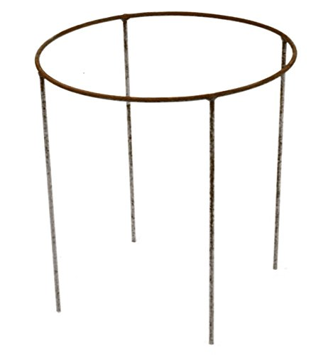 Metallmichl Edelrost Ring 30cm Ø mit Stäben 20 cm lang als Schalenständer oder für Gestecke