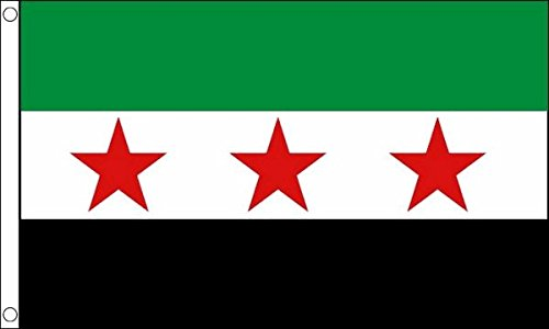 Flag Wholesaler Syria Rebel Flagge, Mehrfarbig, Large -