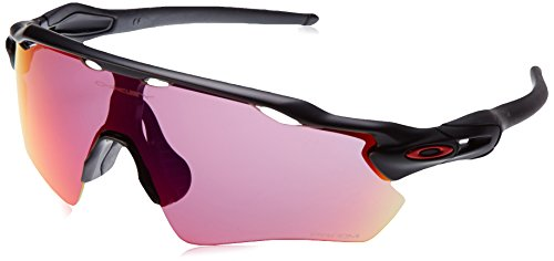 Oakley Men's Radar Ev Path Non-Polarized Iridium Rectangular Sunglasses, Matte Black with Prizm Road, 138 mm