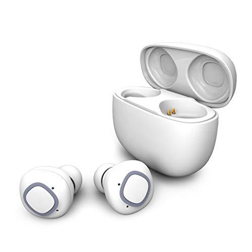 DSSDDS Kopfhörer TWS-Kopfhörer True Wireless Bluetooth-Headset Mit Mikrofon-Sport-Ohrhörer mit Ladekoffer Multi-Point-Verbindung schweißfest (Farbe : Weiß) Audio-ohrhörer