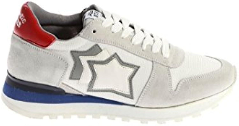 Atlantic Stars Herren ARGOBCNYLBBNY Weiss Leder Sneakers