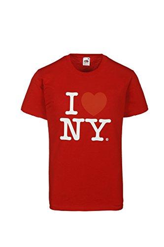 I Love NY Herren T-Shirt New York Herz Motiv Tee Boyfriend Style Farbe Rot Grš§e L 100% Baumwolle (Tee Freiheit Mens)