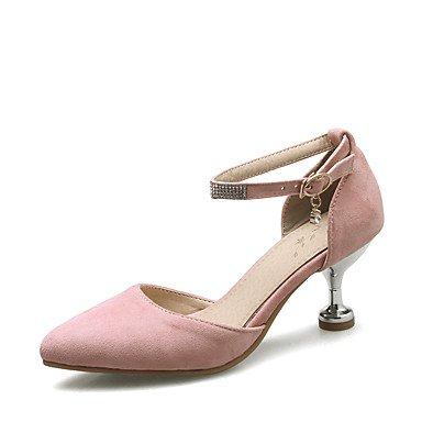 LvYuan Da donna-Sandali-Matrimonio Formale Serata e festa-D'Orsay Club Shoes-Kitten-Finta pelle-Nero Rosa Beige Black