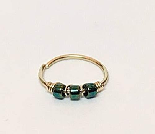 FloweRaiboW 750 Gold Piercing Ring - Helix Ohrring/Nasenring/Tragus/Septum Ring 0.6mm