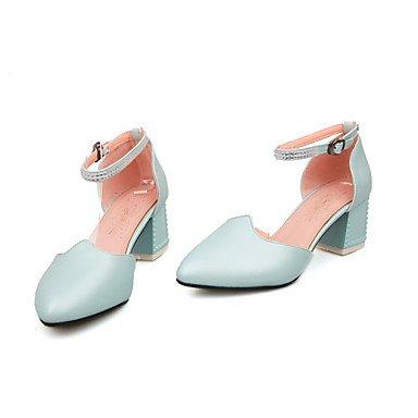 LvYuan Damen-Sandalen-Büro Kleid Party & Festivität-PU-Blockabsatz-Andere-Blau Rosa Weiß White