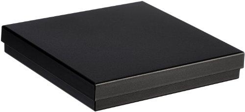 MTS Kette/Collier Schachtel Schmuck Etui schwarz Geschenk - Universal Verpackung Green Pack aus Biokunststoff (Umweltfreudlich) 16 x 16 cm 15 6037