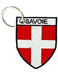 729f4cf0998 akachafactory Porte cle cles Clef Brode Patch ecusson Drapeau Blason Savoie  Savoyard