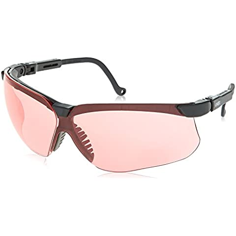 Uvex S3210X Genesis Safety Eyewear, Black Frame, SCT-Vermillion UV Extreme Anti-Fog Lens by (Black Frame Vermillion Lens)