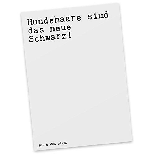 mr-mrs-panda-postkarte-spruch-hundehaare-sind-das-neue-schwarz-100-handmade-aus-karton-300-gramm-pos