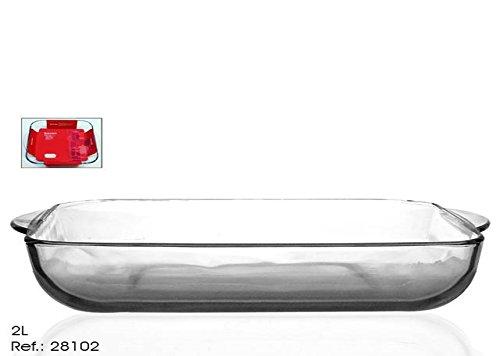 takestop® Tablett Auflaufform Backform Pfanne-unter Kuchen quadratisch 2Liter Kuchen Rustikales Pizza Lasagna für Ofen Kühlschrank