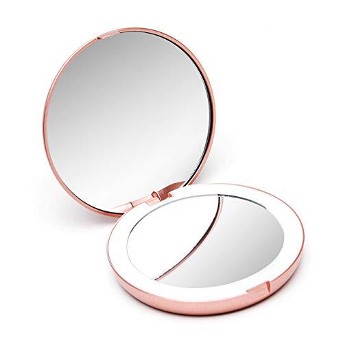 Fancii Espejo de Maquillaje con Luz LED Natural - Espejo Iluminado con LED de Luz Diurna, Compacto...