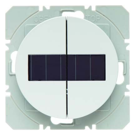 HAGER - PULSADOR SUPERFICIE DOBLE SOLAR QUICKLINK SM RX BLANCO POLAR