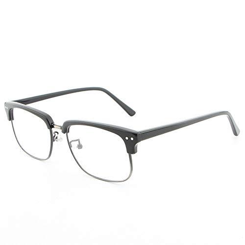 Gläser Brillengestell Holz Vintage Unisex Männer und Frauen handgefertigte Platte Holzmaserung Flache Gläser Rahmen Brillen (Color : 01 Schwarz, Size : Kostenlos)