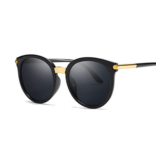 YOGER Sonnenbrillen Cat Eye Sonnenbrille Frauen Damenmode Günstige Designer Spiegel Objektiv Cateye Schwarz Weiß Sonnenbrille Weibliche Shades