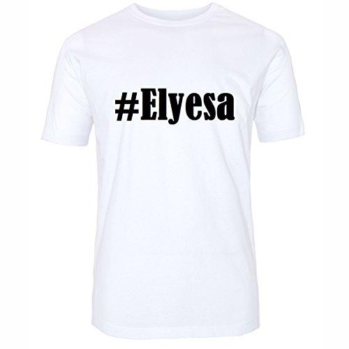 T-Shirt #Elyesa Hashtag Raute für Damen Herren und Kinder ... in den Farben Schwarz und Weiss Weiß
