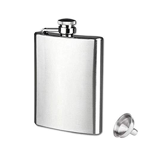 Floridivy Tragbare Mini-Hip Flask 4 5 6 7 8 9 10 18 Unzen Edelstahl-Hüfte-Alkohol-Spiritus-Flasche Kolben mit Cap Funnel -