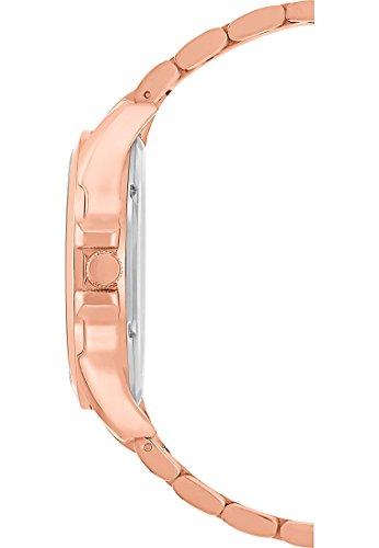 CHRIST times Damen-Armbanduhr Analog Quarz One Size, blau, rosé - 4