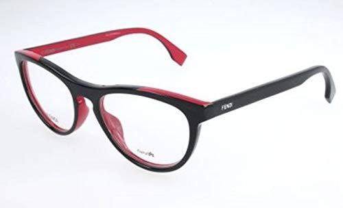 Fendi Damen FF 0123 MFQ-51-17-140 Brillengestelle, Schwarz, 51