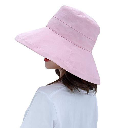 WYJW Hüte 100% Baumwolle Erwachsene Bucket Hat Sommer Angeln Beach Festival Sun Cap 4 Farbe (Farbe: PINK, Größe: 54-60cm) Pink Angel Hat