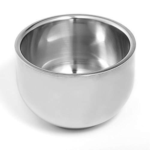 1 STÜCK 100 ML 7,2 cm Shinning Doppelschicht Stahl männer Rasur Pinsel Seife Creme Wasser Tee Wein Becher Schüssel Tasse Isolierung Anti-Hot