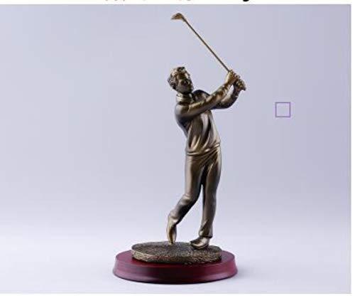 WDDqzf-Ornaments Skulptur Figur Dekoration Statuen Exquisite Golfer Statue Hauptdekorationen Lebensechte Golf Actionfiguren Dekoration Werbegeschenke, Dunkles Kupfer C -