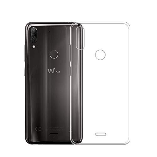 HYMY Wiko View 2 Plus Transparent Hülle Case - Schutzhülle Weich TPU Handytasche Handyhülle Durchsichtig Klar Silikon Handyfall für Wiko View2 Plus (5.93